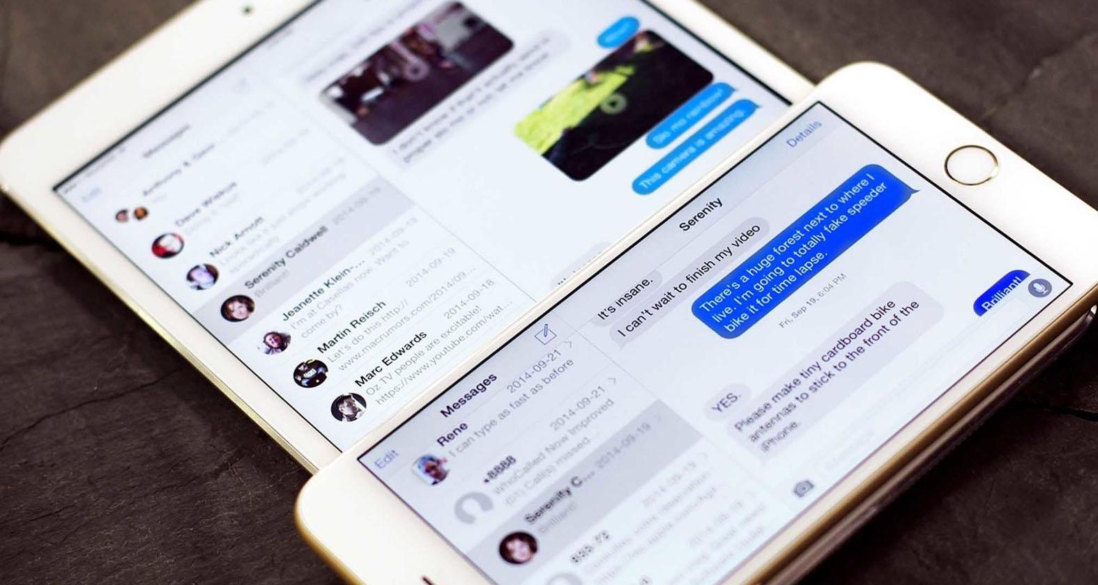 Как принимать и отправлять сообщения SMS на iPad и Mac