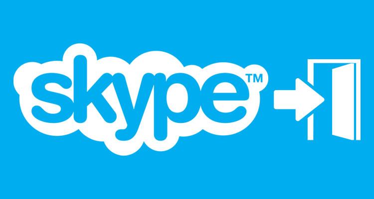 Как удаленно выйти из учетной записи Skype